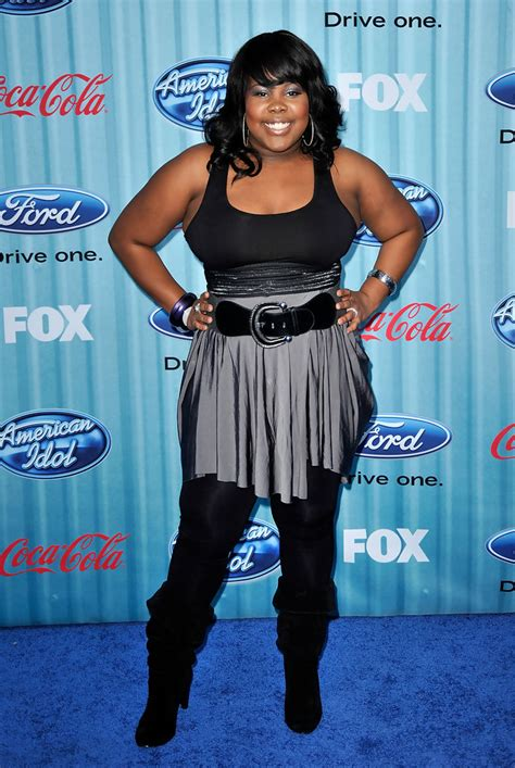 amber riley   american idol top  party