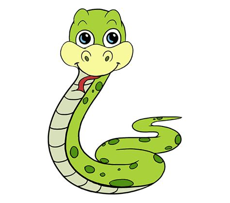 draw  cartoon snake easy step  step drawing guides