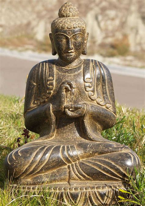 sold stone dharmachakra garden buddha  ls hindu