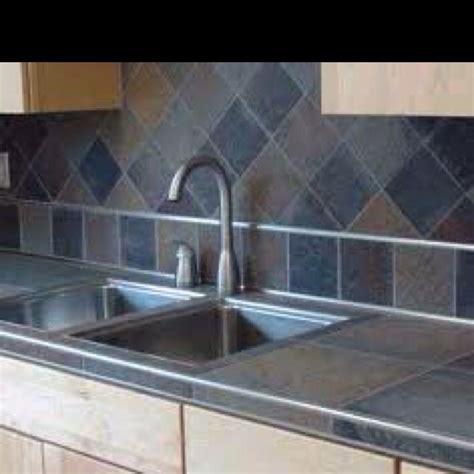 slate tile kitchen countertops 27 best tile countertops images on bathroom 5324