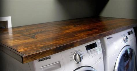 {how to} make your own laundry wood countertop    Kitchen