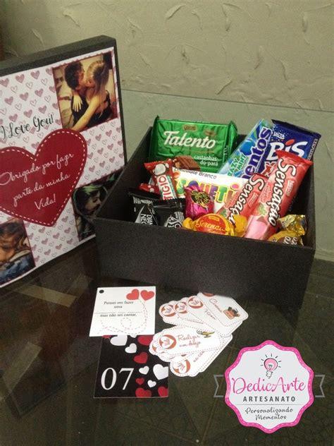 presente criativo  namorado cesta chocolates caixa mdf   em mercado livre
