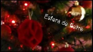 D I Y Esfera De Fieltro Para Tu  U00e1rbol De Navidad