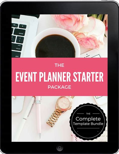 event planner template bundle event planning certificate