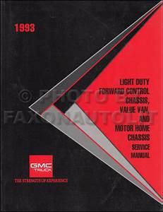 1993 Gmc P Motorhome  U0026 Fc  Value Van  Motor Home Wiring