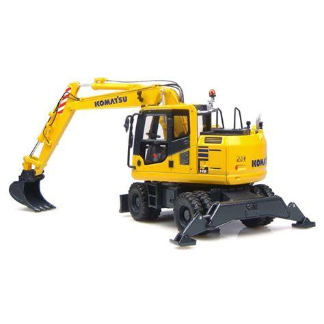 komatsu pw  wheeled excavator  standard ditching buckets accurate diecast