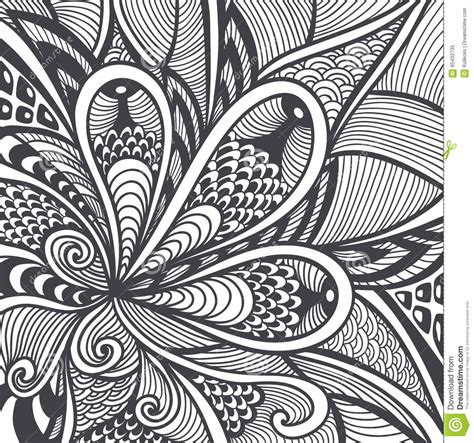 abstract pattern  zen tangle zen doodle style black