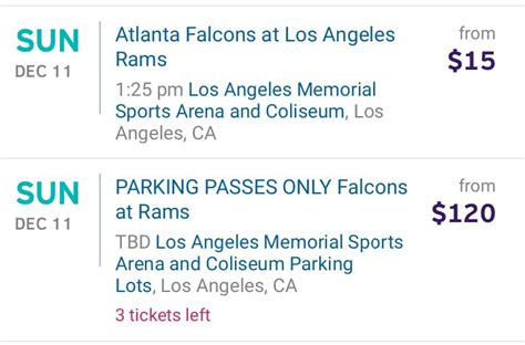 rams parking deck pass 7 9 bullsh t los angeles rams tickets are selling for 9