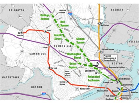 Somerville Green Line Extension Map