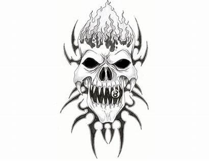 Skull Evil Tattoo Skulls Tribal Clipart Designs