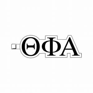 Greek letters theta phi alpha plastic greek letter for Theta phi alpha greek letters