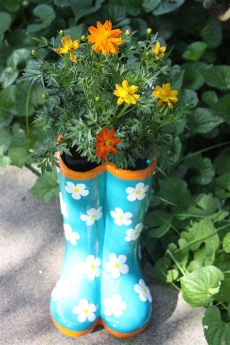 Ceramic Boot Planter Garden Pinterest Planters And