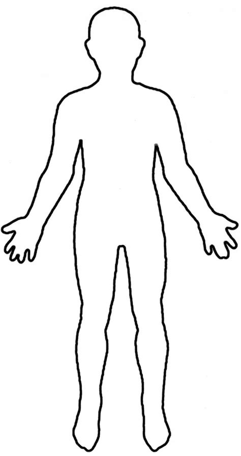 human body outline printable    clipartmag