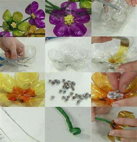 creare fiori con bottiglie di plastica 20 idee per lavoretti con bottiglie di plastica per