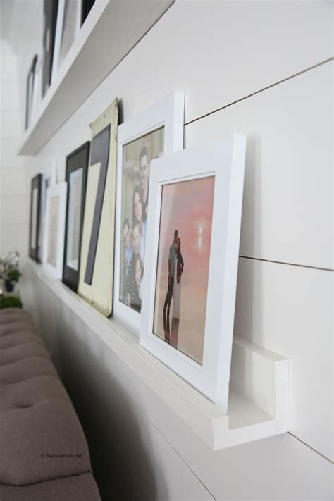 diy photo ledges   photo wall