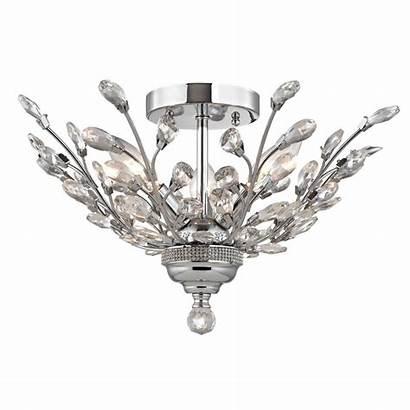 Crystal Semi Chrome Flushmount Lighting Finish Ceiling