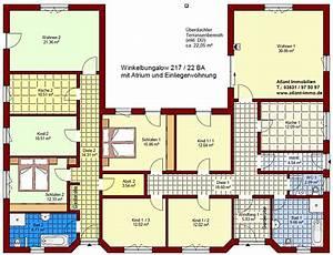 Atrium Bungalow Grundrisse : winkelbungalow 217 22 ba mit einliegerwohnung und atrium neubau einfamilienhaus massivhaus ~ Bigdaddyawards.com Haus und Dekorationen