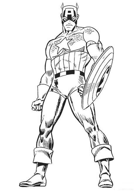 gambar mewarnai tokoh komik captain america
