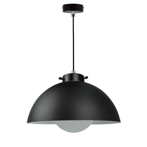 suspension design kiruna verre noir 1 x 40 w inspire leroy merlin