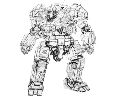 mech printable mechwarrior  atlas actions coloring
