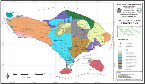peta jenis tanah bali kumpulan peta