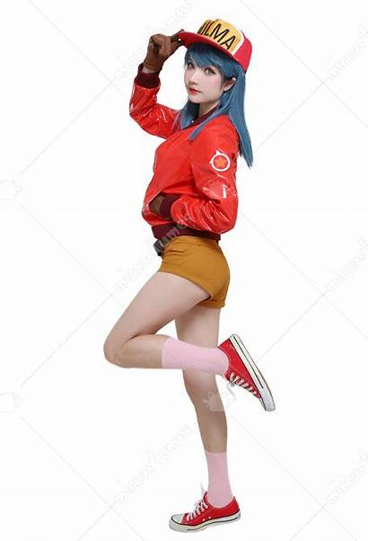 Bulma Cosplay Dragon Ball Costume Hat Jacket
