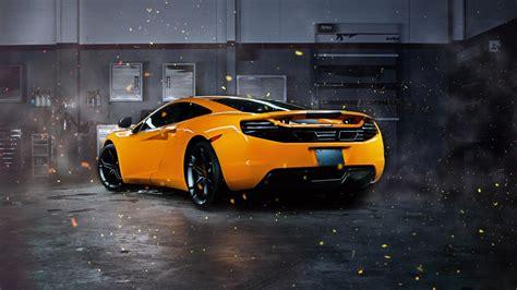 Mclaren, Car, Mclaren Mp4 12c, Orange, Effects, Supercars