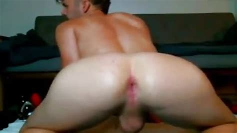 Gay Showing Off His Big Ass And Inserting Big Dildo