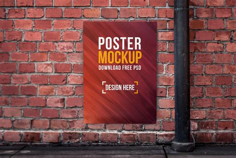 Poster Mockup 50 Poster Mockups Psd Collection Thedesignz