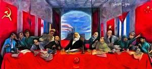 Communist Last Supper Painting by Leonardo Digenio