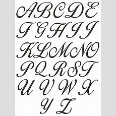 Alphabet Letters In Fancy Cursive Theveliger