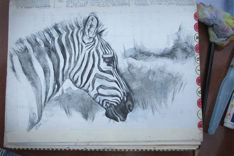 More Zebraswatercolour Pencil Sketch From My Art Journal