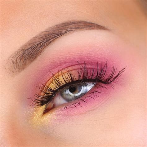 pink yellow eyeshadow   ideas   yellow