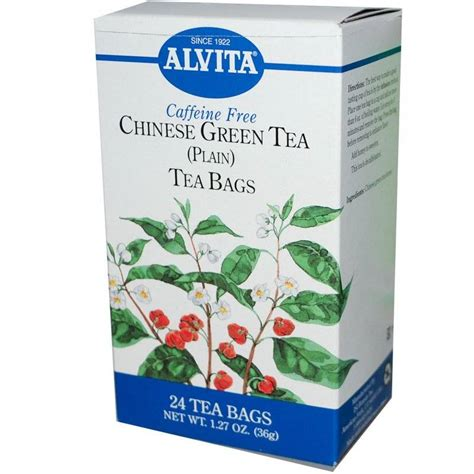 is green tea caffeine free alvita teas chinese green tea caffeine free 24 bags