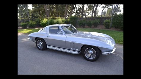 sold  chevrolet corvette fuel injected coupe silver