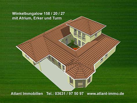 Bungalow Mit Atrium by Atrium 158 20 27 Grosse Hausansichten Winkelbungalow Mit