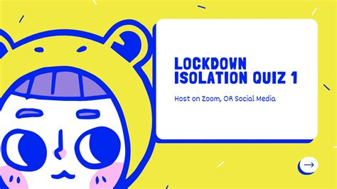 3.7 ratings 138+ reviews 10k+ downloads. Zoom Lockdown Isolation Quiz 1 - Family Games Night - Trivia Night - Self Isolation Quiz by ...