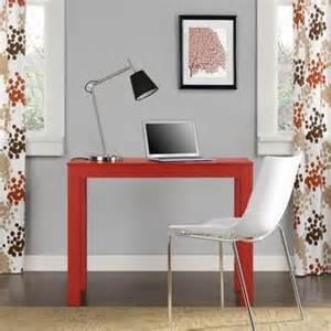 white parsons desk
