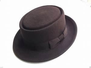 Details about Brown100% Wool Felt Pork Pie Crushable Hat ...