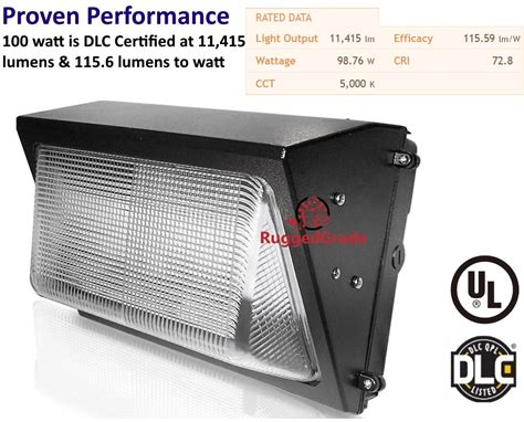 100 watt led wall pack light 12 400 lumens high