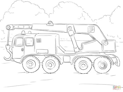 crane truck coloring page  printable coloring pages