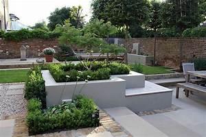 Multi level linear garden hertfordshire designed by kate for Latest landscape design