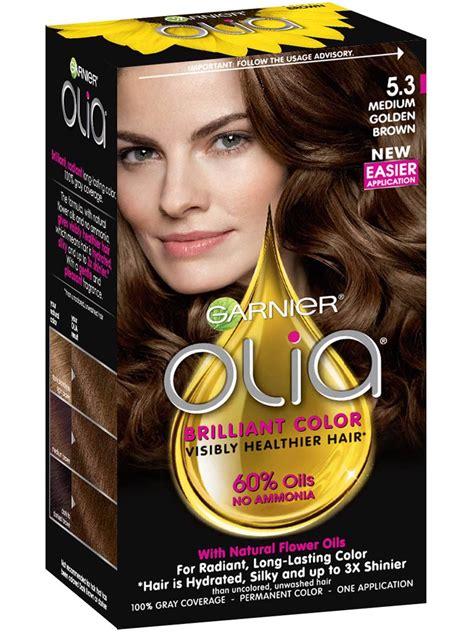 olia ammonia  permanent hair color med golden