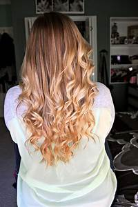 Ombre Hair Dirty Blonde To Bright Blonde With Curls Ombre