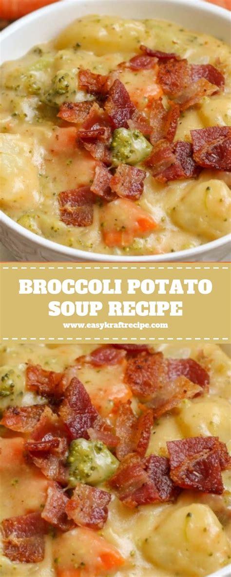 Broccoli Potato Soup Recipe Christmas Dinner Easy