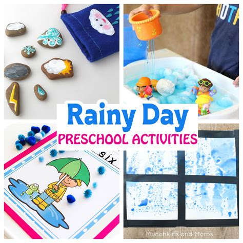 rainy day preschool activities munchkins and 932 | rainy day collage