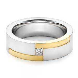 mens wedding bands with diamonds 39 s two tone and wedding band 100123