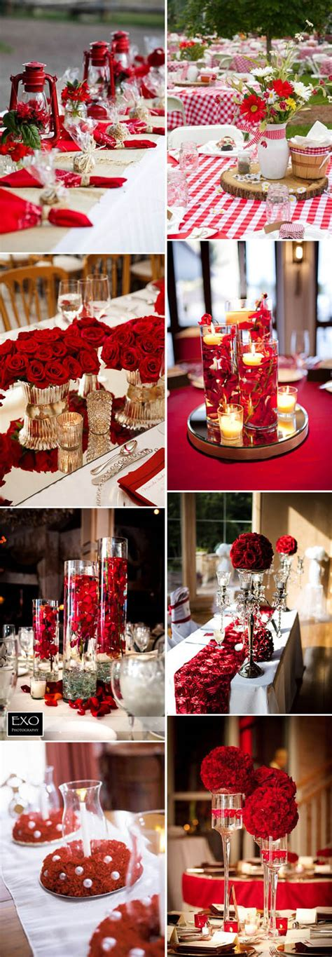 wedding centerpieces red and white 40 inspirational classic red and white wedding ideas
