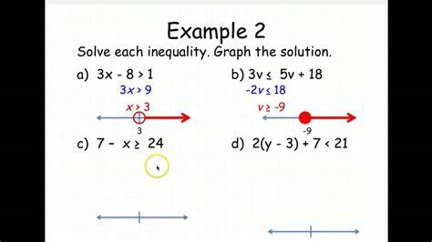 solving two step inequalities worksheet kuta 2 169 b
