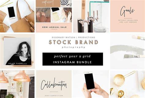 rose gold  grid instagram bundle  rw productions